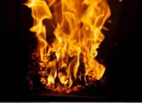 Dielle pelletkachel vlambeeld
